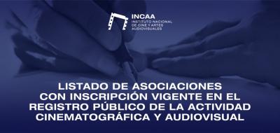 PLACA - LISTADO DE ASOCIACIONES CON INSCRIPCIÓN VIGENTE